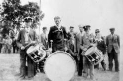 Ballinacree Band: Drummers in the 1952 band, Mattie Lynch, Pat Lynch, Joe Kevin