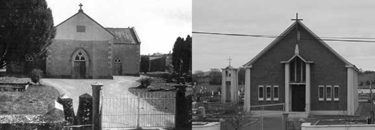Ballinacree Old Church and current Church