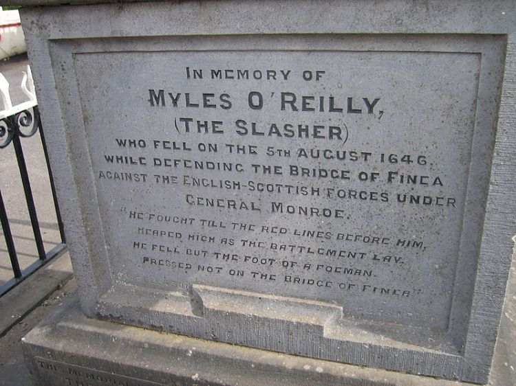 "Monument to Myles O'Reilly ""The Slasher"" in Finea"