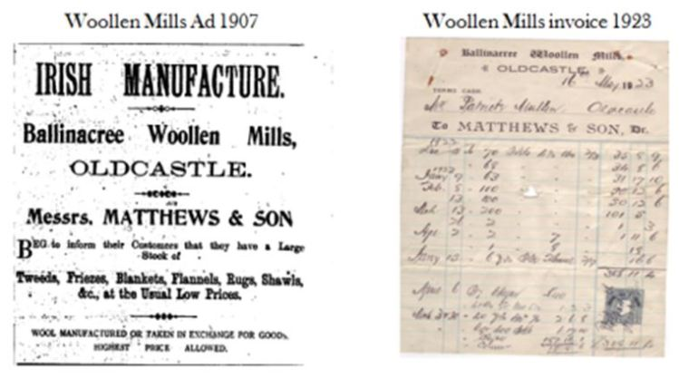 Woollen Mills Advert and Invoice