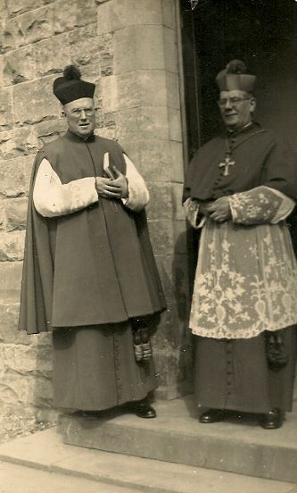 Fr Troy with then Bishop of Meath Dr Kyne c 1954